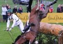 Clark Montgomery and Universe, fall at Bramham in 2014