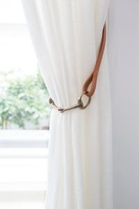 horse bit curtain tie back